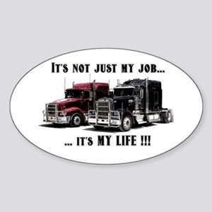 Trucker - it's my life Sticker (Oval)